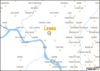 map of Lebaw