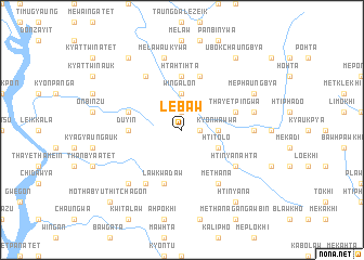 map of Lebaw