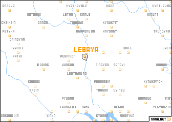 map of Lebaya