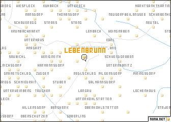 map of Lebenbrunn