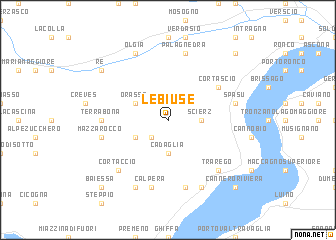 map of Le Biuse