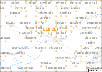 map of Le Bizet