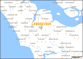 map of Lebôngyauk