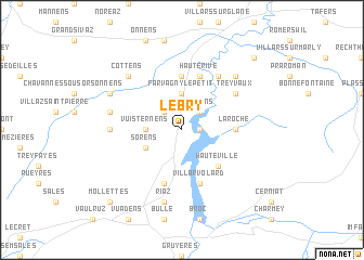 map of Le Bry