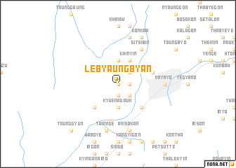 map of Lebyaungbyan