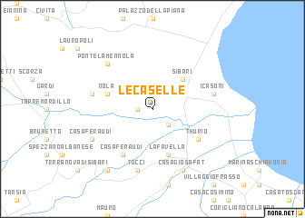 map of Le Caselle