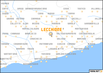 map of Lecchiore