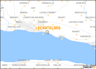map of Le Châtelard