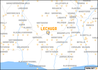 map of Lechuga