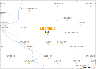 map of Lednëvo
