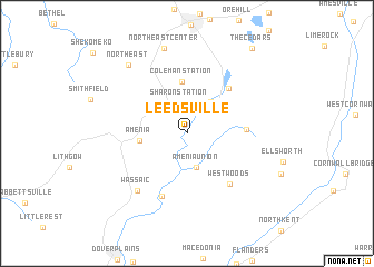 map of Leedsville