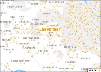 map of Lee Forest