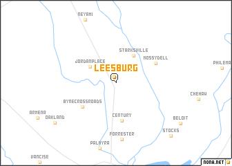map of Leesburg