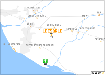 map of Leesdale