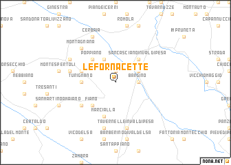 map of Le Fornacette