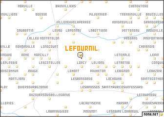 map of Le Fournil