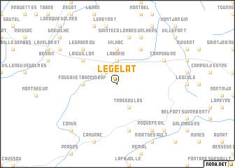 map of Le Gélat