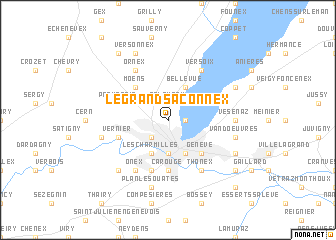map of Le Grand-Saconnex