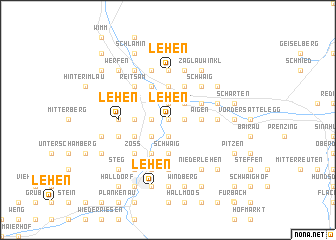 map of Lehen