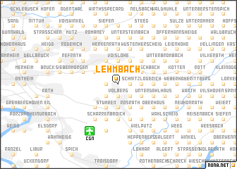 map of Lehmbach