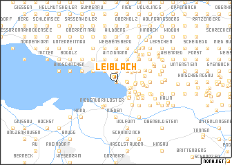 map of Leiblach