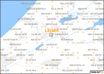 Leiden Netherlands map nonanet