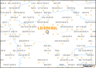 map of Leienkaul