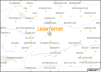map of Leighterton