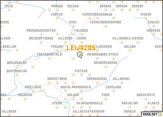 map of Leijazós