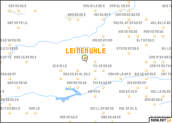map of Leinemühle