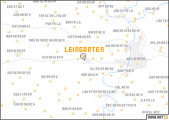 map of Leingarten