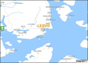map of Leirvik