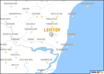Leiston United Kingdom Map Nonanet - Topographic map of united kingdom
