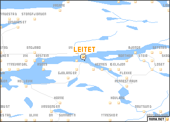 map of Leitet