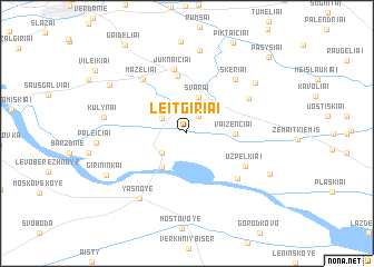 map of Leitgiriai