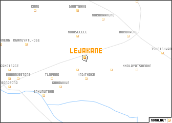 map of Lejakane