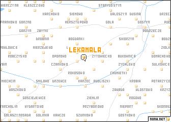 map of Łęka Mała