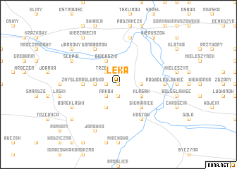 map of Łęka