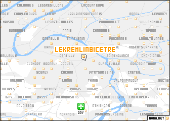 map of Le Kremlin-Bicêtre