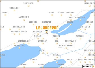 map of Le Landeron