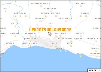 map of Le Mont-sur-Lausanne