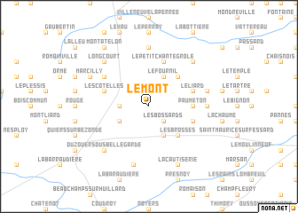 map of Le Mont