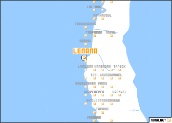 map of Lénana