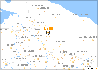 map of Leña