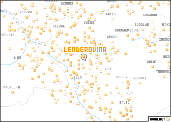 map of Lenđerovina