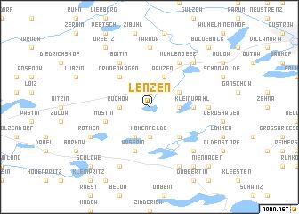map of Lenzen