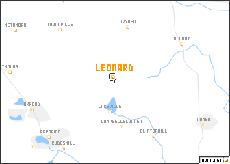 Leonard Michigan Map.Leonard United States Usa Map Nona Net