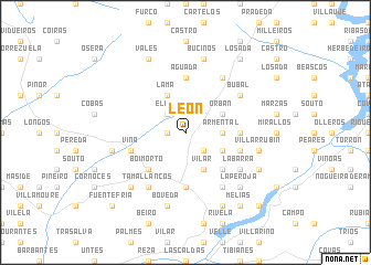 map of León
