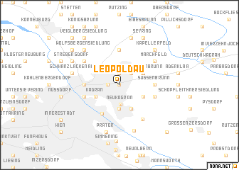 map of Leopoldau