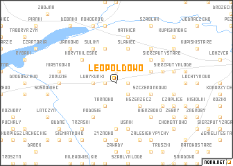 map of Leopoldowo